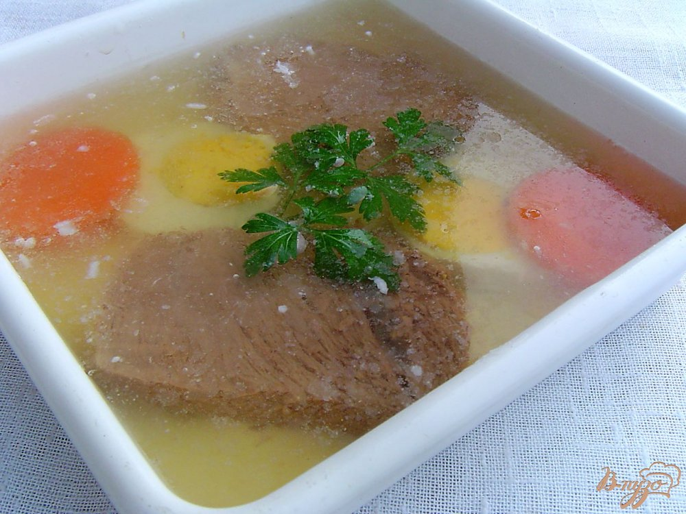 Холодец из телятины рецепт с фото