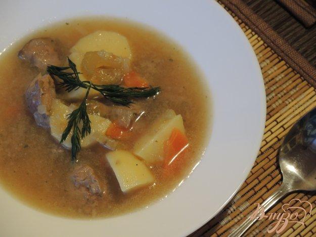 фото рецепта: Суп с куриной печенью