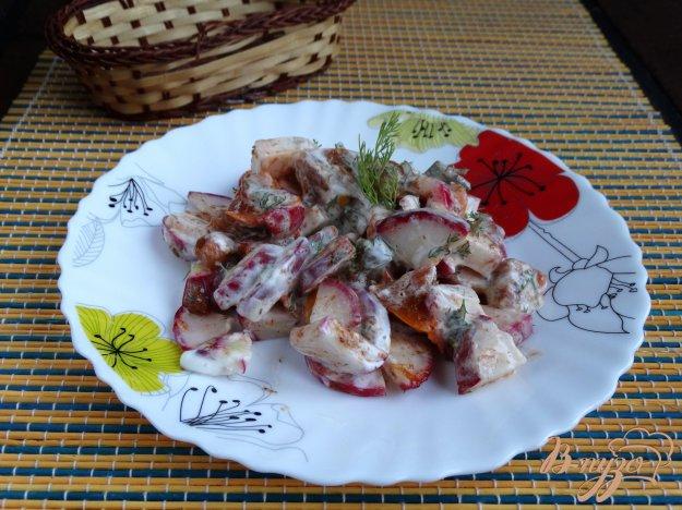 фото рецепта: Салат Редма с хурмой и редисом