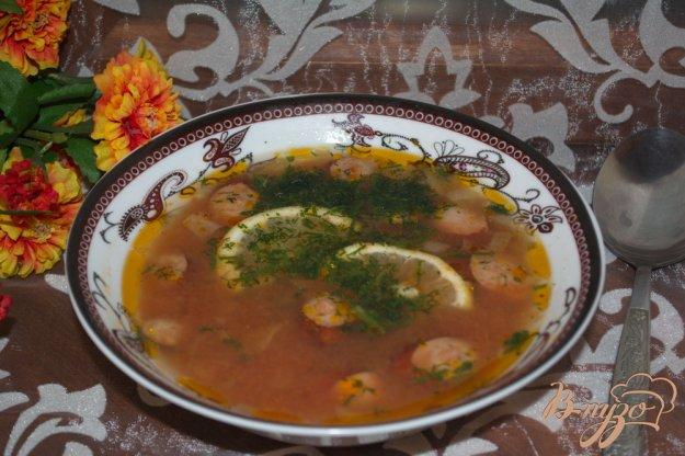 фото рецепта: Солянка домашняя с ветчиной, сосисками