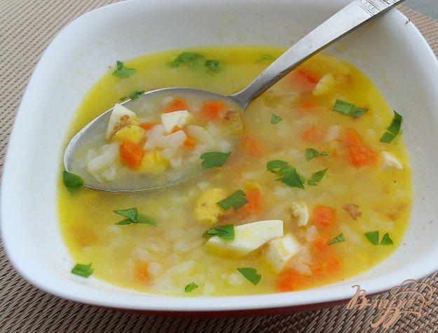фото рецепта: Суп рисовый с яйцом