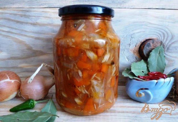 фото рецепта: Скумбрия с овощами на зиму