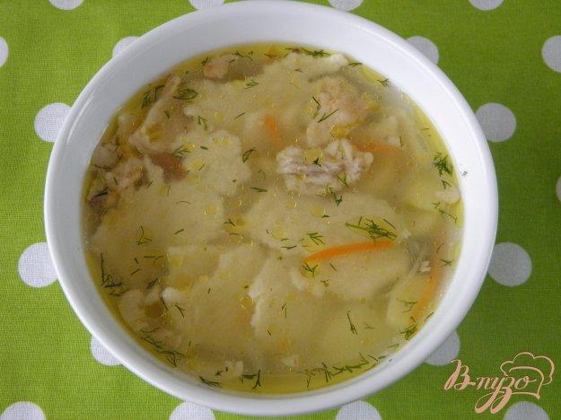 фото рецепта: Суп с галушками на курином бульоне