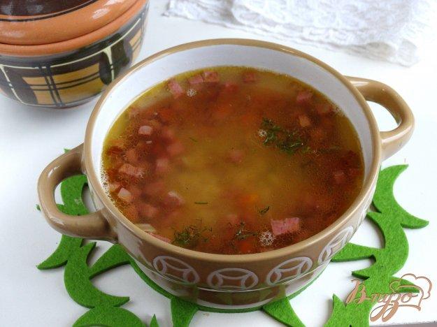 фото рецепта: Суп из бобовой смеси с колбасой