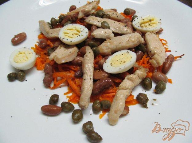 фото рецепта: Салат из Мяса курицы перепелиных яиц и каперсов