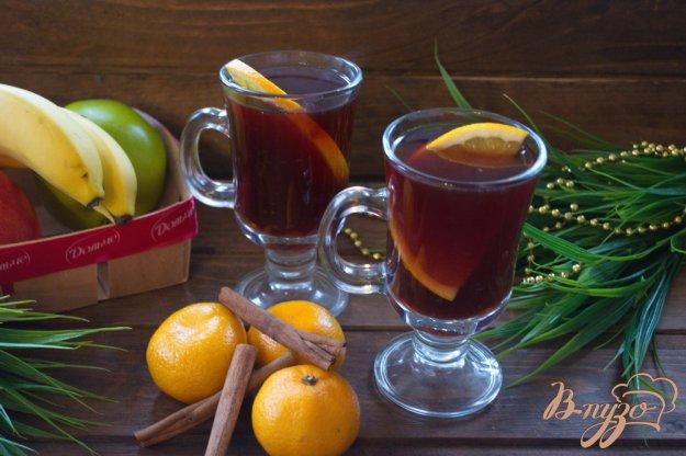 фото рецепта: Имбирный глинтвейн с апельсином и  перцем