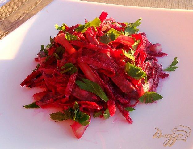 фото рецепта: Салат из свеклы и свинного сердца