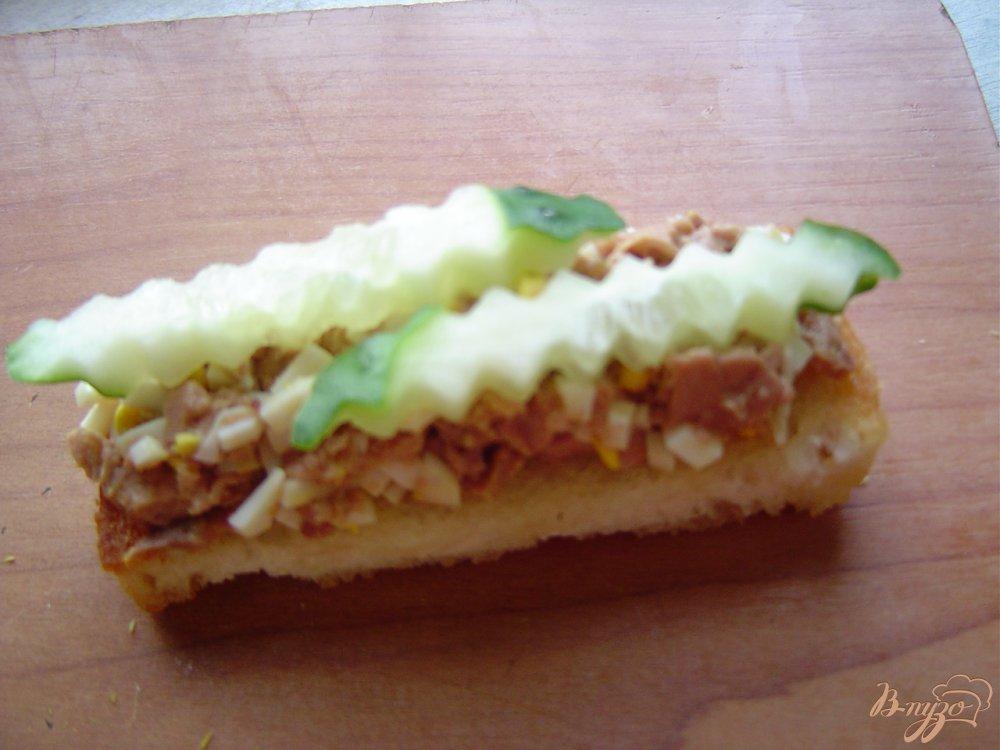 бутерброды с печенью трески рецепт с фото