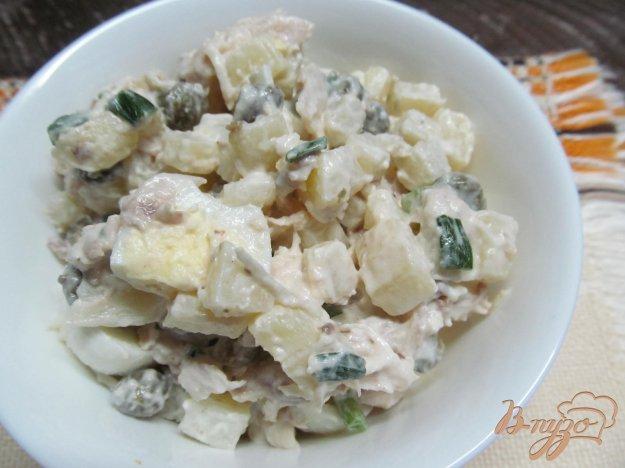 Салат яйца куриная грудка вареная