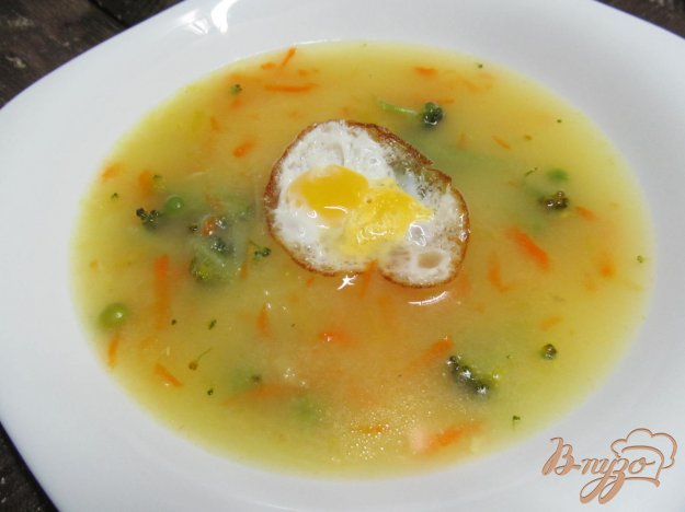 фото рецепта: Суп на курином бульоне с натертым картофелем