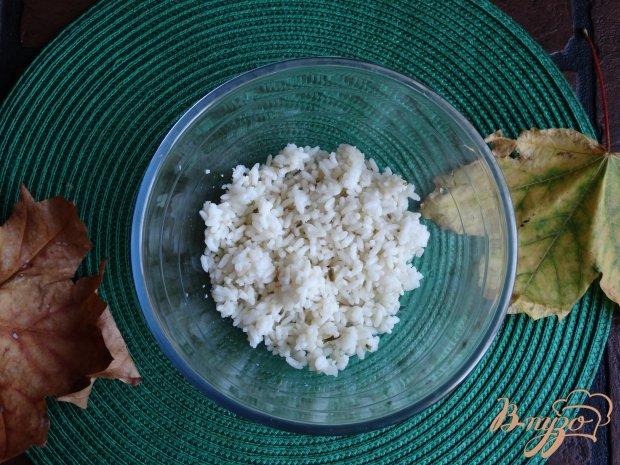 Рецепт Салат с рисом и копченой колбасой
