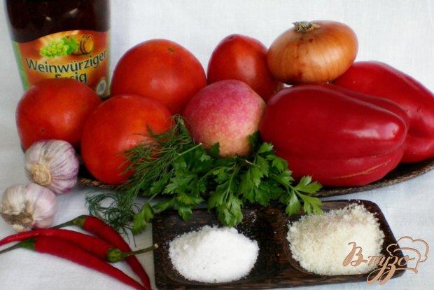 Рецепт Аджика с зеленью и яблоком