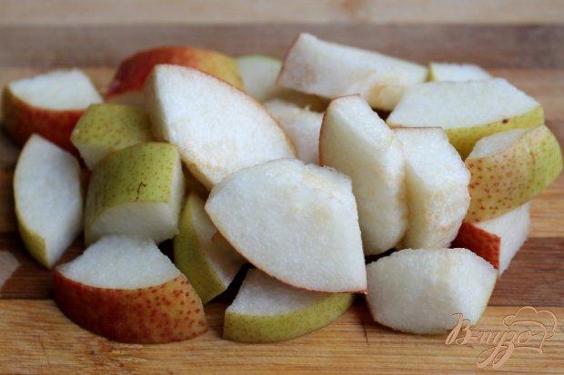 Рецепт Груша в сахарном сиропе с сыром Камамбер