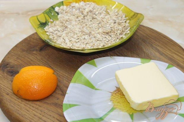 Рецепт Овсяное печенье с какао и цедрой апельсина