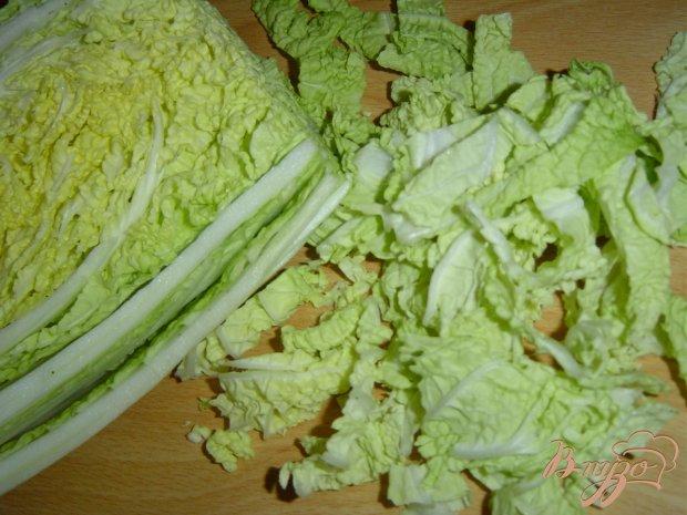 Рецепт Салат из пекинской капусты с помидорами и кукурузой