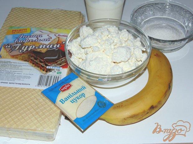 Рецепт Банан в вафле