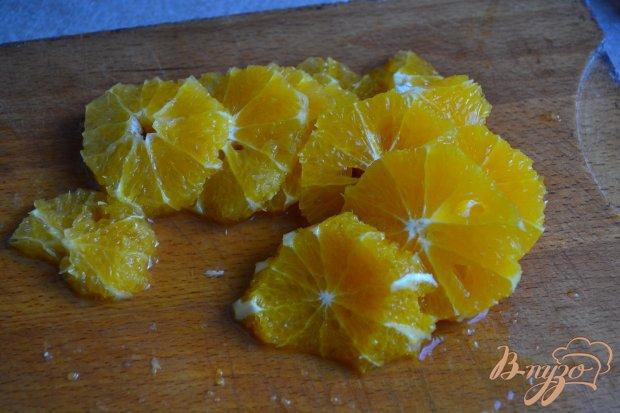 Рецепт Салат с апельсинами и чипсами из сыра