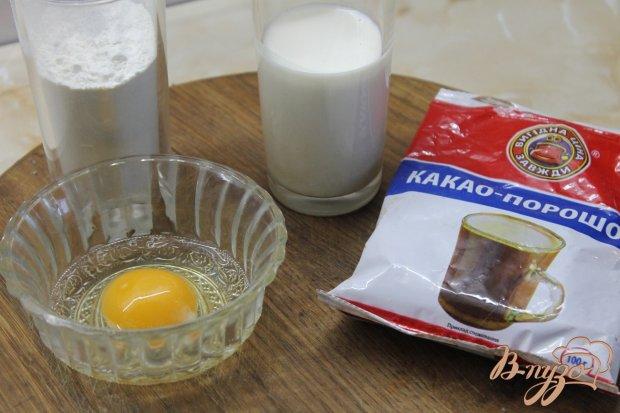 Рецепт Панкейки шоколадные в шоколадной глазури с орехами