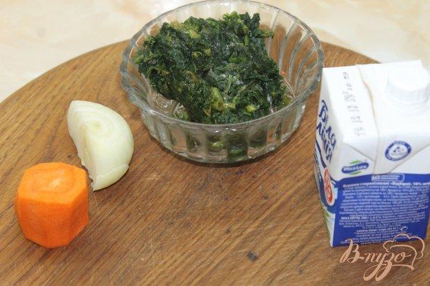 Рецепт Сливочный суп - пюре со шпината и овощей
