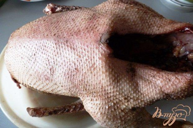 Рецепт Запеченная утка маринованная с яблоками и медом