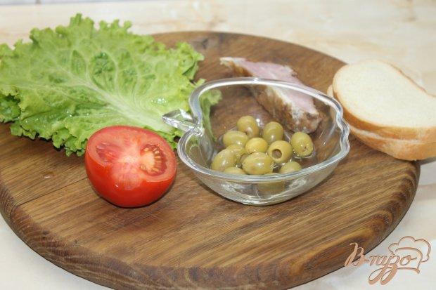 Рецепт Салат с копченым свиным балыком и овощами