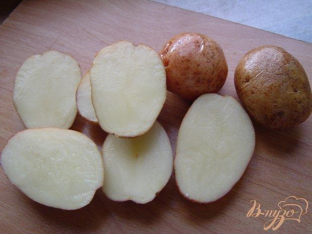 Рецепт Картофель,запеченный с салом