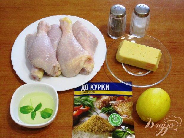 Рецепт Куриные ножки с сыром в духовке