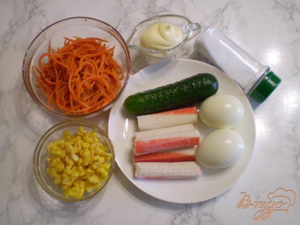 Рецепт Крабовый салат с корейской морковью
