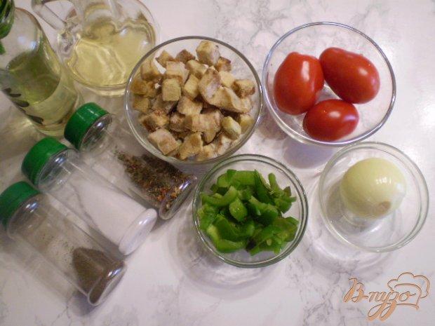 Рецепт Теплый баклажановый салат