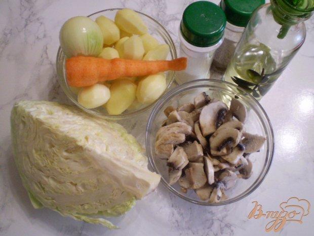 Рецепт Голодные щи с шмпиньонами