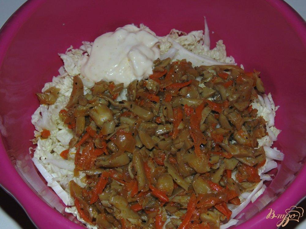 салат с грибами маринованными пошаговый рецепт с фото