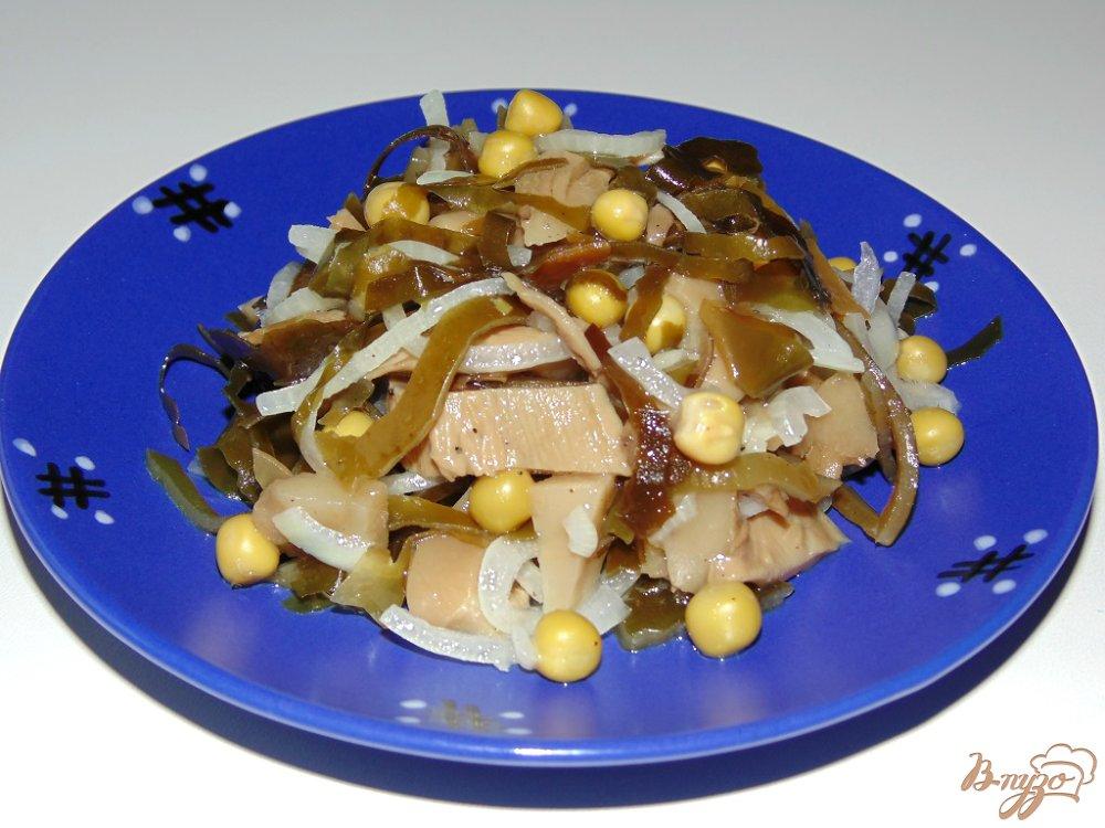рецепты салатов с морской капустой