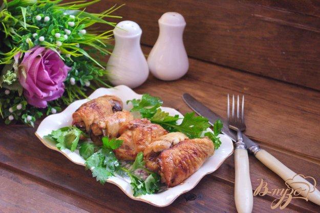 фото рецепта: Праздничные куриные рулеты с грибами