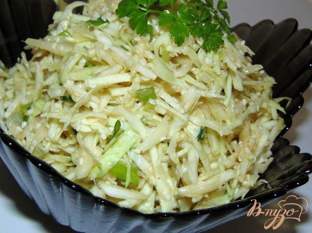 фото рецепта: Острый салат из белокочанной капусты без соли
