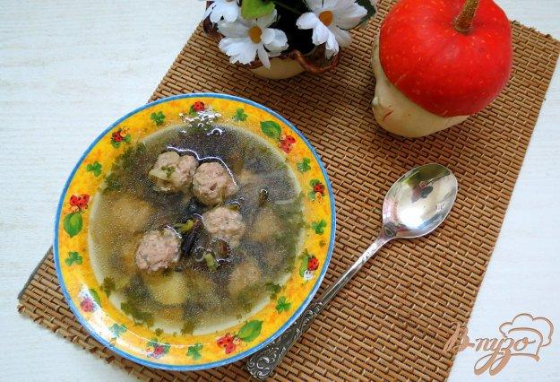 фото рецепта: Суп с фрикадельками и опятами