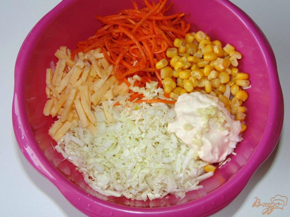Салат пекинская капуста курица корейская морковка