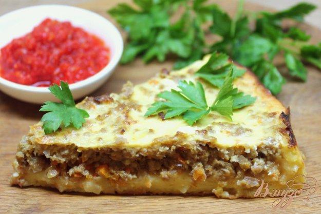 фото рецепта: Картофельный пирог с говяжьим фаршем