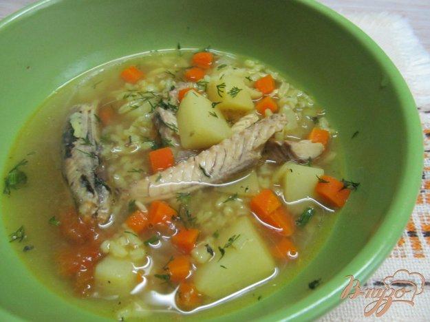 фото рецепта: Суп с рыбными консервами