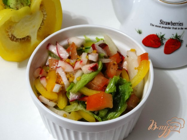 фото рецепта: Овощной салат с горчичной заправкой