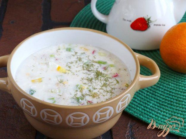фото рецепта: Холодный овощной суп на кефире