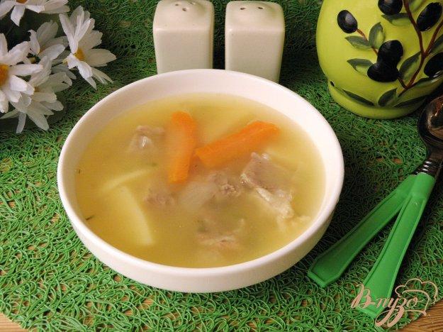 фото рецепта: Гороховый суп на говяжьих ребрах