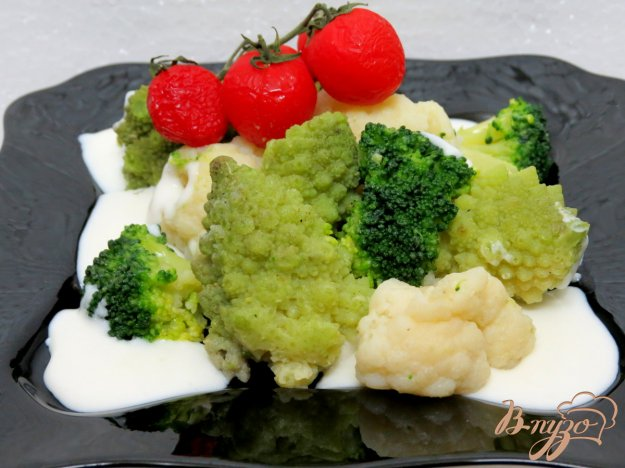 фото рецепта: Овощи под сливочно-молочным соусом