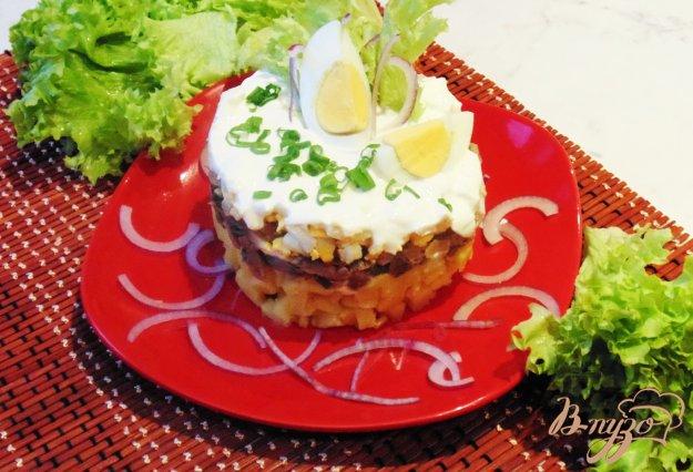 фото рецепта: Грибной салат с овощами и яйцами