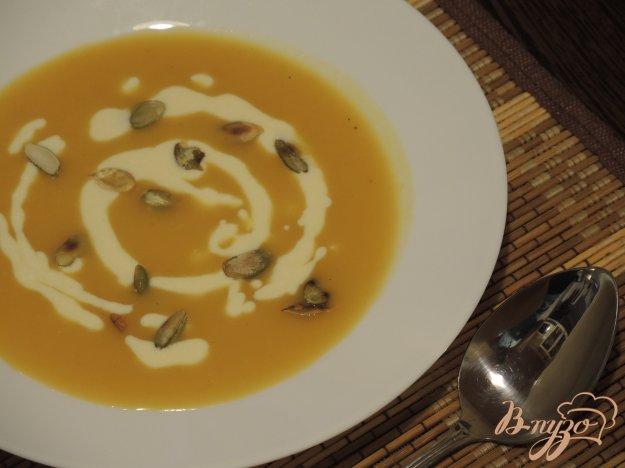 фото рецепта: Суп-пюре с тыквой и яблоком