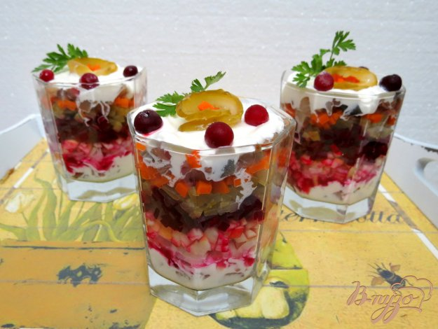 фото рецепта: Салат из свеклы и сельди