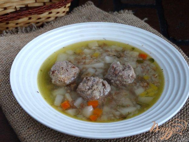 фото рецепта: Суп с говяжьими фрикадельками в мультиварке