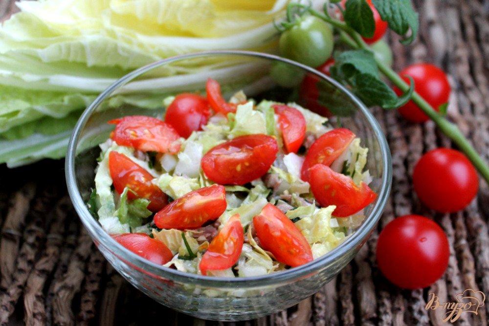 салат из пекинской капусты рецепты и ветчиной и