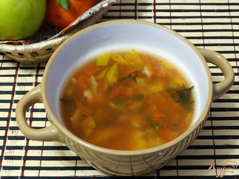 суп из шампиньонов и фасоли рецепт с фото
