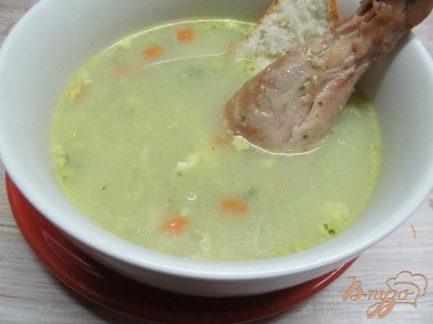 фото рецепта: Куриный суп с пастой орзо