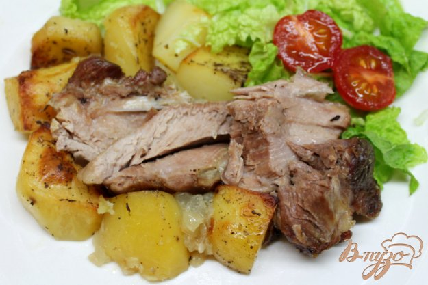 индейка в духовке с картофелем рецепт с фото